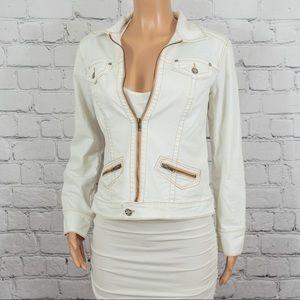 Cabi white jean jacket